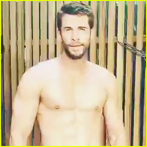 Liam Hemsworth Goes Shirtless for Workout - Watch!