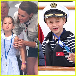 Princess Charlotte Sticks Out Her Tongue During King's Cup Regatta
