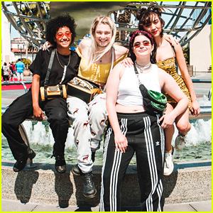 Rowan Blanchard & 'Euphoria' Stars Take A Tour at Universal Studios Hollywood