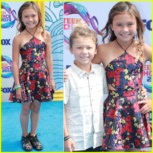 Sky Brown Brings Little Brother Ocean to Teen Choice Awards 2019!