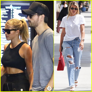 Sofia Richie Shows Off Toned Abs Shopping with Scott Disick
