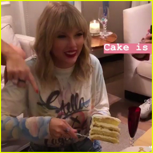 Taylor Swift Celebrates 'Lover' Release with Cake & Close Friends!