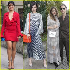 Camila Cabello, Sofia Carson & More Hit Up Valentino's Paris Fashion Show