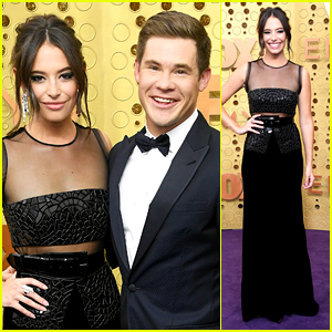 Chloe Bridges Couples Up With Adam Devine at Emmy Awards 2019