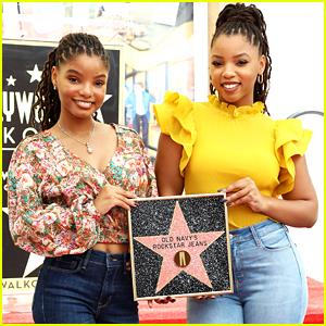 Chloe x Halle Help Celebrate Old Navy's Rockstar Jeans on Hollywood Walk of Fame