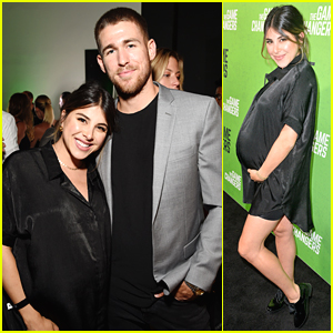 Daniella Monet Attends 'The Game Changers' Premiere 9 Months Pregnant!