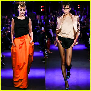 Gigi Hadid & Kaia Gerber Strut Their Stuff For 'Tom Ford' Fashion Show
