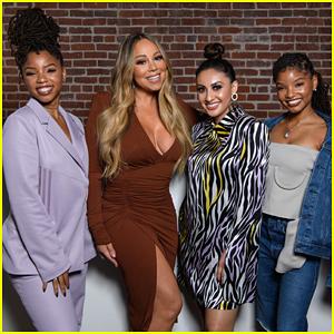 Chloe x Halle & Francia Raisa Meet Mariah Carey at 'Embrace Your Ish' Party!