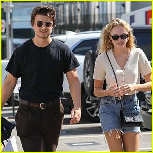 Joe Keery Ditches His Bowl Cut Bangs For Shopping Trip with Maika Monroe
