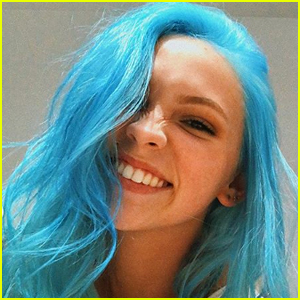 Jordyn Jones Dyed Her Hair Bright Blue & Honestly, We're Obsessed!