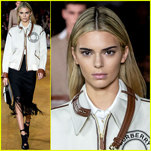 Kendall Jenner Shows Off New Hair Color at Burberry Show!