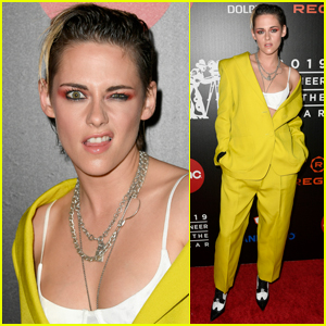 Kristen Stewart Makes a Funny Face for the Camera Arriving at Will Rogers Pioneer Dinner!