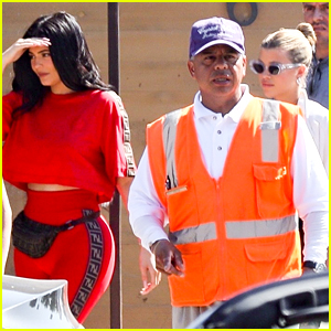 Kylie Jenner Rocks Red Fendi Outfit For Lunch With Sofia Richie