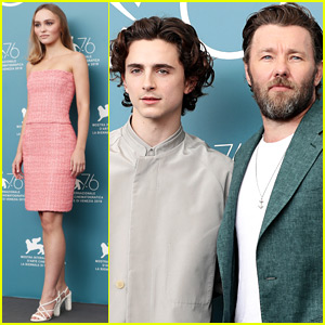 Timothee Chalamet Promotes 'The King' in Venice with Lily-Rose Depp