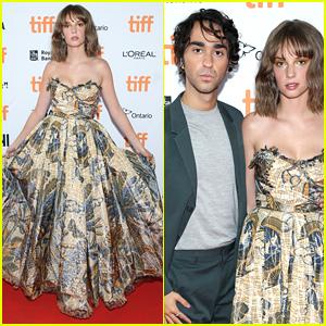 Maya Hawke Wears Gorgeous Butterfly Dress For 'Human Capital' TIFF Premiere