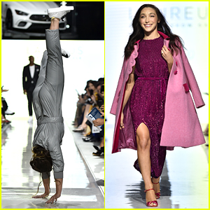 Meryl Davis & Katelyn Ohashi Walk In Laureus Fashion Show Gala
