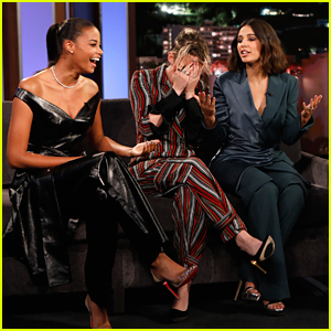 Naomi Scott Joins Kristen Stewart & Ella Balinska For 'Charlie's Angels' Promo