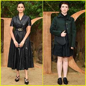 Nina Dobrev Shows Off Her Amazing Style at Christian Dior Fashion Show with Sophia Lillis