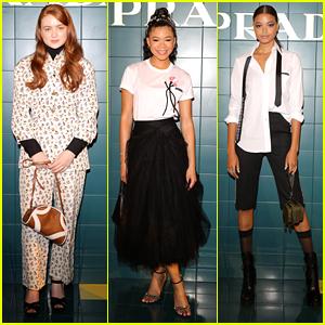 Sadie Sink & Storm Reid Sit Front Row at Prada's Milan Fashion Week Show