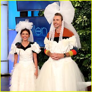 Sarah Hyland Wears Wedding Dress on 'Ellen'!