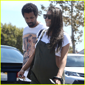 Shay Mitchell & Matte Babel Pick Up New TV Ahead of Baby's Arrival