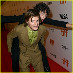 Noah Jupe Gets a Piggyback Ride from 'Honey Boy' Co-Star Lucas Hedges at TIFF!