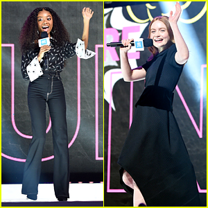 Skai Jackson & Sadie Sink Kick Off Festivities at We Day UN 2019