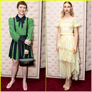 Sophia Lillis & Lucy Fry Celebrate Gucci's Zumi Handbag Collection