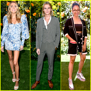 Anne Winters, Luke Eisner & Liza Koshy Check Out the Polo Match at Veuve Clicquot Polo Classic