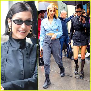 Bella Hadid Celebrates 23rd Birthday With Gigi Hadid & Dua Lipa in NYC