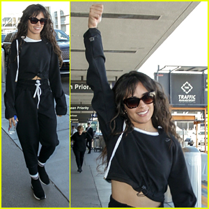 Camila Cabello Gets Excited Ahead Of Her Flight To London