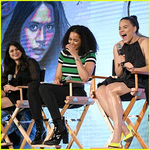 Sarah Jeffery, Melonie Diaz & Madeleine Mantock Promote 'Charmed' Season 2 at NYCC