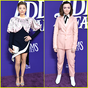 Chloe Moretz & Elsie Fisher Premiere New Movie 'The Addams Family'
