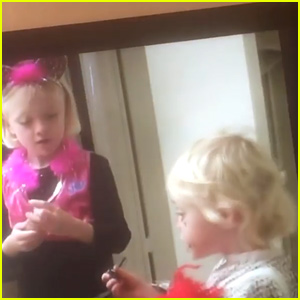 Elle & Dakota Fanning Get Ready for Halloween in Adorable Throwback Video