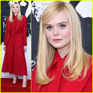 Elle Fanning Goes Bold In Red For Maleficent 2 Photo Call