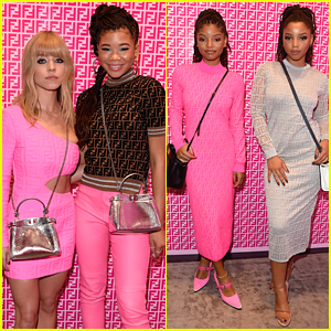 'Euphoria Co-Stars Storm Reid & Sydney Sweeney Meet Up at Fendi Prints On Debut