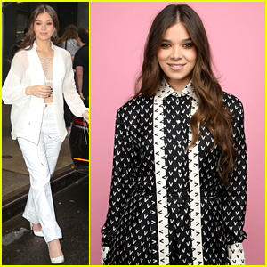 Hailee Steinfeld Rocks Two Cute Looks For 'Dickinson' Promo in NYC