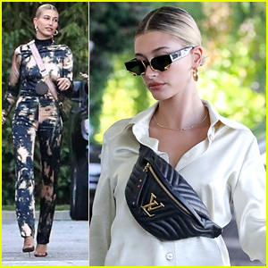 Hailey Bieber Joins Her Friends For A Girl's Night Out in LA
