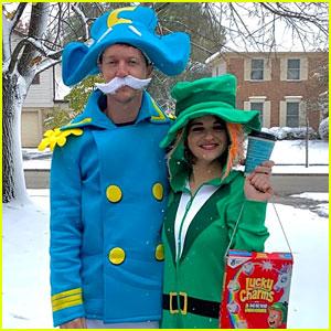 Joey King Dresses as the Lucky Charms Leprechaun for Halloween!