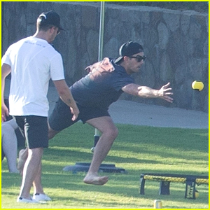 Jonas Brothers Play A Ball Game During 'Happiness Begins' Mexico Tour