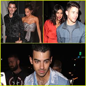 Kevin & Nick Jonas Grab Dinner With Wives Danielle Jonas & Priyanka Chopra in LA