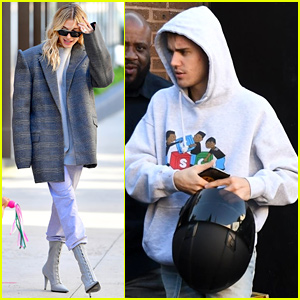 Justin & Hailey Bieber Spend Their Weekend in Different States