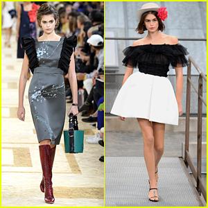 Kaia Gerber Hits Chanel & Miu Miu Runways For Paris Fashion Week