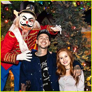 Madelaine Petsch & Travis Mills Get In The Halloween Spirit at Universal Studios' Halloween Horror Nights!