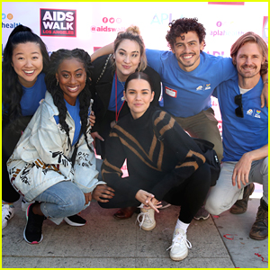 Maia Mitchell & The 'Good Trouble' Cast Attend & Speak at AIDS Walk Los Angeles