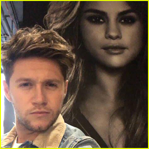 Niall Horan Snaps Pic With Selena Gomez Poster in NYC