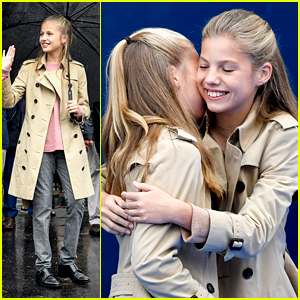 Princess Leonor Gets All The Hugs From Sister Infanta Sofia During Visit to Asiegu