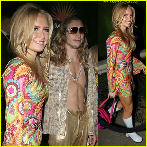 Sailor Brinkley Cook & Boyfriend Ben Sosne Go Back To The Groovy 70s For Halloween Party