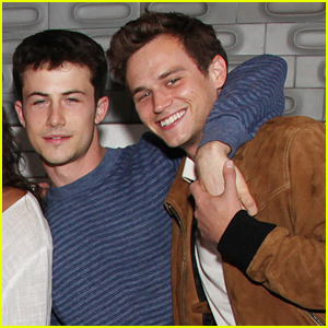 Dylan Minnette & Brandon Flynn Cuddle Up At Final Table Read For '13 Reasons Why'