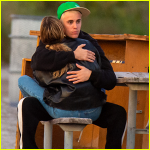 Justin & Hailey Bieber Cuddle Up at Hailey's Photoshoot in Florida